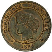 5 Centimes 1883 - France