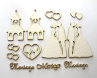 Wedding 1 - chipboard