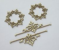 Doily + ornament 1 - chipboard